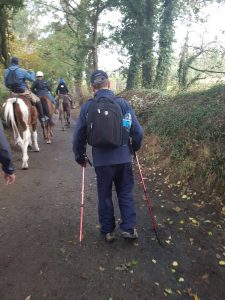 Ted walking the Camino